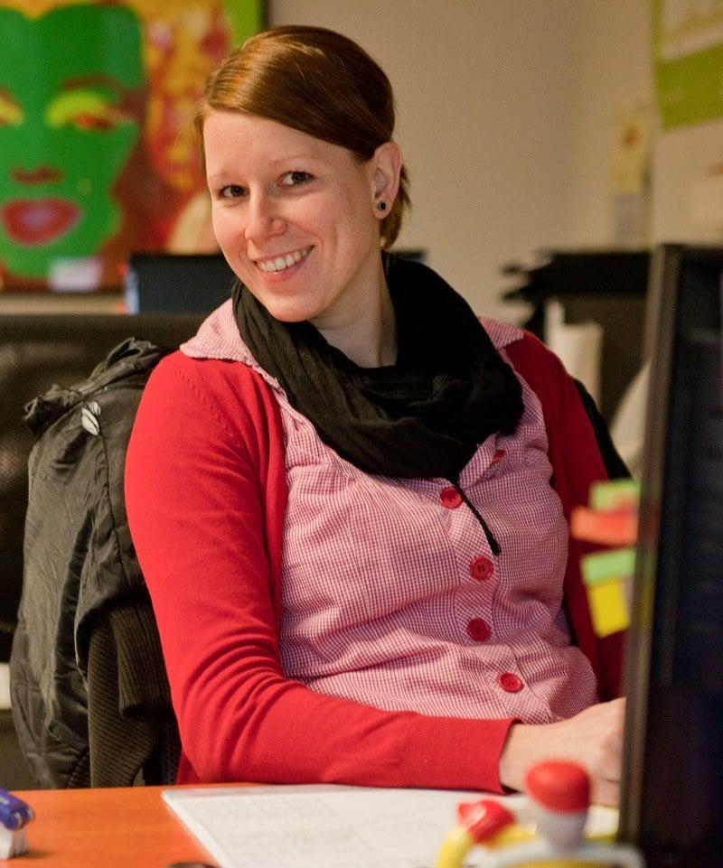 Birte Schoofs , Sachbearbeiterin für Unternehmensinsolvenzen